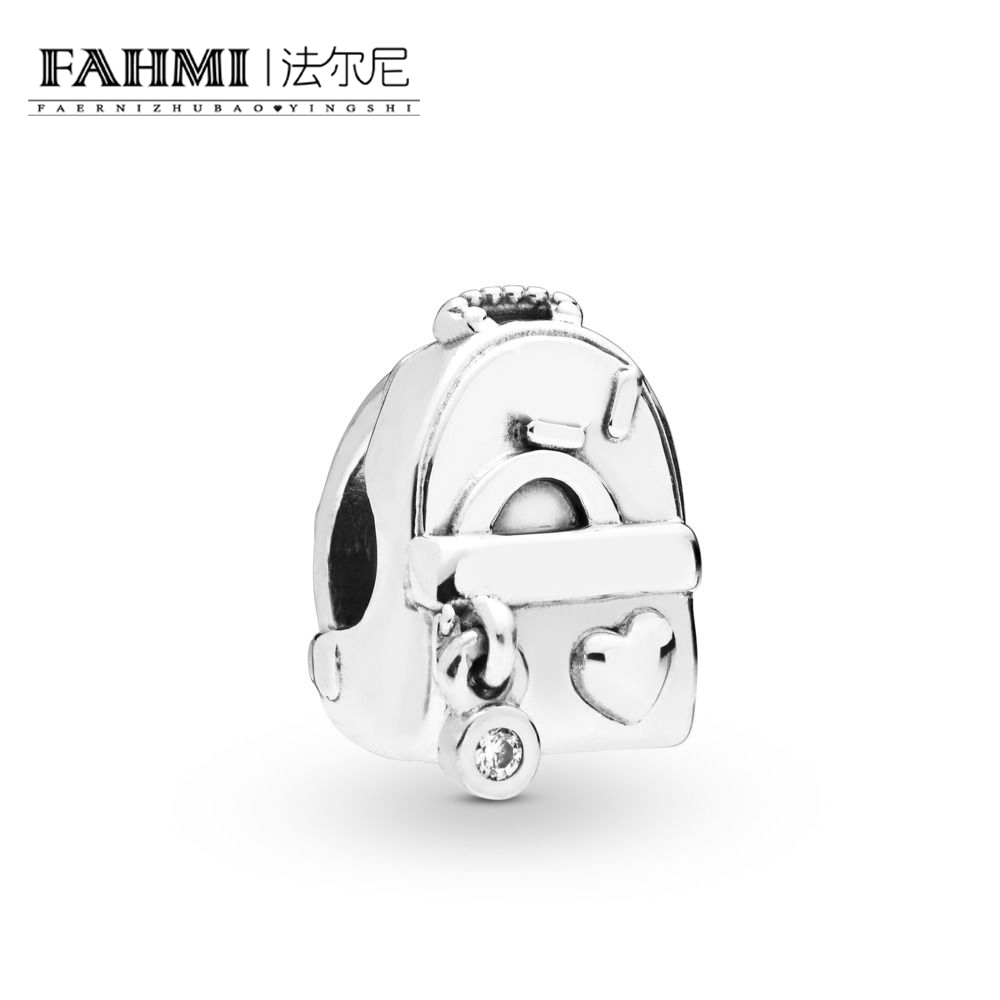 FAHMI 100% 925 Sterling Silver New 2019 Spring Beautiful Moment 797859CZ Adventure Bag Charm Pendant Fit DIY BraceletFAHMI 100% 925 Sterling Silver New 2019 Spring Beautiful Moment 797859CZ Adventure Bag Charm Pendant Fit DIY Bracelet