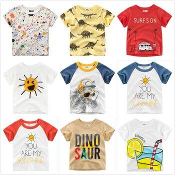 cc8b41ec0a4af92 Футболка для мальчиков с рисунком граффити, 2019 летняя одежда для малышей,  хлопковые топы с короткими рукавами, Детские футболки для мальчик.