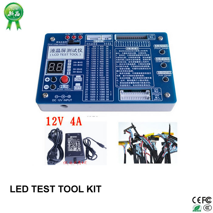 все цены на New update Laptop TV / LCD / LED TEST TOOL KIT LCD SET to meter 7-55 Support LVDS panel interface онлайн