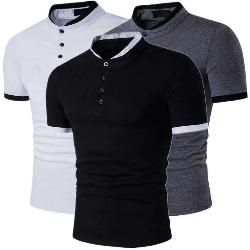 Zogaa 2019 Short Sleeve   T  -  Shirt   Men Pure Cotton   T     Shirt   Homme Summer New Arrival Fashion Button Henry Collar Tee   Shirts