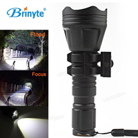 Brinyte B158 Convex Lens XM L2 U4 LED Tactical Flashlight Torch Zoomable Aluminum 900Lm Outdoor Waterproof