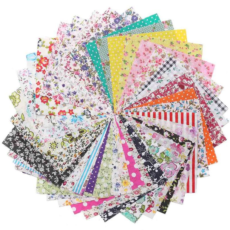 Hot sale 50pcs lot floral cotton fabric cloth for for Sewing material for sale
