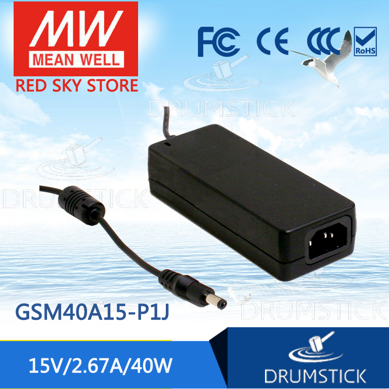 Hot sale MEAN WELL GSM40A15-P1J 15V 2.67A meanwell GSM40A 15V 40W AC-DC High Reliability Medical Adaptor hot mean well gsm60a12 p1j 12v 5a meanwell gsm60a 12v 60w ac dc high reliability medical adaptor