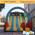 Inflatable Biggors Inflatable Giant Slide With Arch For Amusement Park