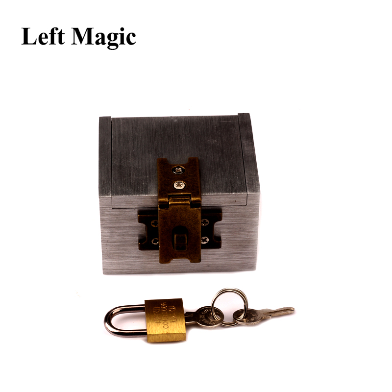 The Strong Box By Joe Porper Card Magic Tricks Mental Prediction Aluminum Iron Box Magic Prop Dice Comedy Stage Magic Accessory