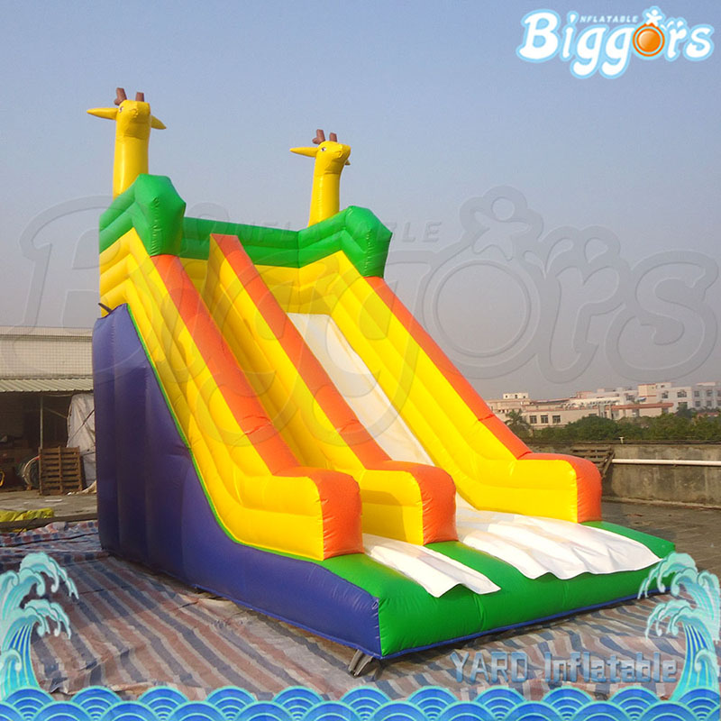 Factory direct inflatable water slide outdoor for kids hot on sale inflatable biggors kids inflatable water slide with pool nylon and pvc material shark slide water slide water park for sale