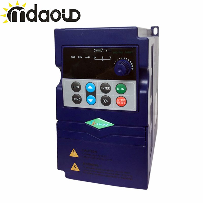 цена на 220V 380V 2.2KW Single Phase three Phase INPUT Output Frequency Converter / Adjustable Speed Drive / Frequency Inverter / VFD