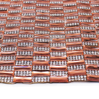 Hot Fix Rhinestone Beaded Trim Iron On Diamond Mesh Strass Crystal Wedding Applique For Clothes Craft Decorative T1358