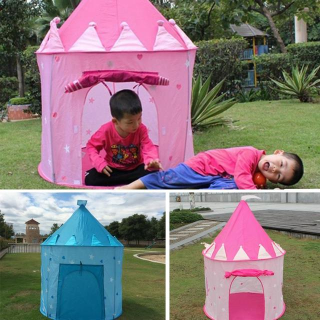Play Tent Portable Foldable Tipi Prince Folding Tent Children Boy Cubby Play House Kids Gifts Outdoor & Play Tent Portable Foldable Tipi Prince Folding Tent Children Boy ...