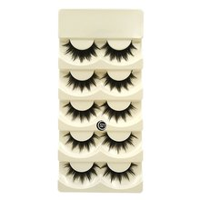 Natural Dense Style False Eyelashes High-grade Pure Handicraft Eyelash Fashion 5 Pairs Of Suits