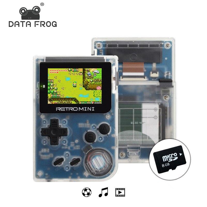 Dati Rana Mini Console di Videogiochi Tasca Portatile 2.0 Pollice palmare 32bit Giochi Classici Migliore Regalo Per Il Bambino E Nostalgico lettore