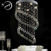 Vintage crystal Europe empire loft chandelier with GU10 5 lights for parlor bedroom living room hotel lobby restaurant store bar