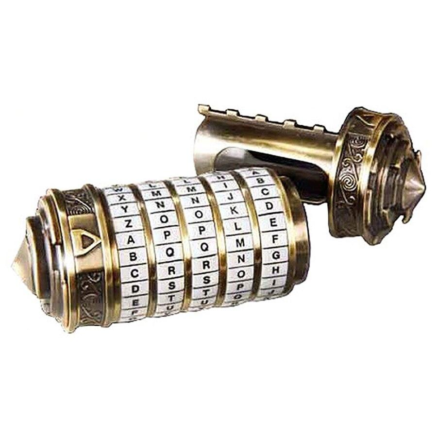 Da Vinci Code serrure enfants éducatifs Puzzle jouets Cryptex serrures lettre mot de passe échapper chambre accessoires pour cadeau de la saint-valentin