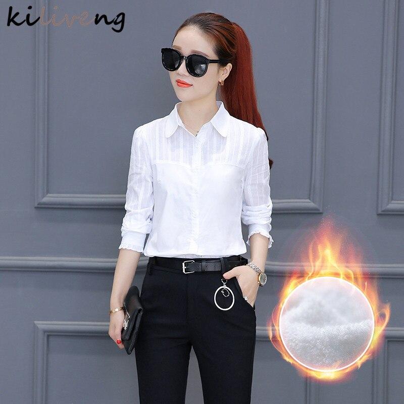 Kiliveng חולצות נשים חולצות חולצה, נשים שרוולים של, החורף חם חליפת עסקים מקצועית, סתיו וחורף בובות K5842