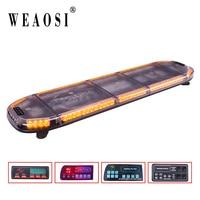 TBD 8900H 1200mm amber LED emergency traffic lightbar / strobe warning full size lightbar for garbage truck for all cars