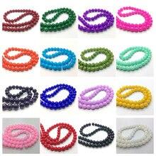 Brincos soltos multicoloridos 4/6/8/10mm, pulseira diy, colar, contas para fazer jóias