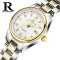 Мода леди бизнес наручные часы из нержавеющей стали водонепроницаемый кварцевые Женские часы календарь Алмаз женские часы новый
