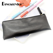лучшая цена 1 Pcs Black Business Pencil Case - PU Leather Pencil Bag Simple Style Handbag Stationery Pen Case Office School Supplies