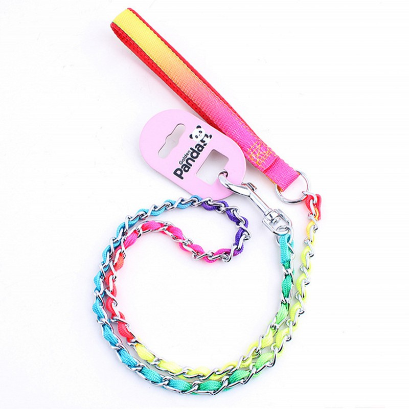 2016 High Quality Durable Nylon Dog Leash Colorful Pets Chain Drawstring Training Dog Harness S M L Free Shipping
