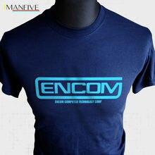 Футболка Encom Tron Ретро Sci Fi Тематический фильм MCP Flynn Light Cycle Cool Новые футболки Смешны Лучший!