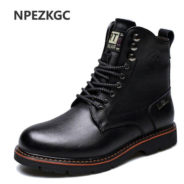 Hommes martin bottes d'hiver de haute qualité cuir cheville bottes automne et hiver Hommes chaussure 7LgPn