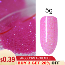 5g/bag Nail Glitter Powder Art Pigment Shining Shimmer Pink Gold Red Silver for Decorations DIY Manicure Design