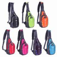 À prova dwaterproof água masculino saco de peito funcional náilon cintura saco esporte ao ar livre ombro estilingue mochila bolsa viagem sacos de acampamento