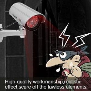 Image 5 - 2 قطعة وهمية وهمية كاميرا CCTV كاميرا مراقبة متجر أمن الوطن مصباح ليد كاميرا محاكاة كاميرا مقاوم للماء في الهواء الطلق