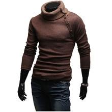 2016 rollkragen Pullover Stilvolle Slim Fit Gestrickte Lange Ärmel Einfarbig Männer Pullover Männer Pullover Pullover Größe XXL
