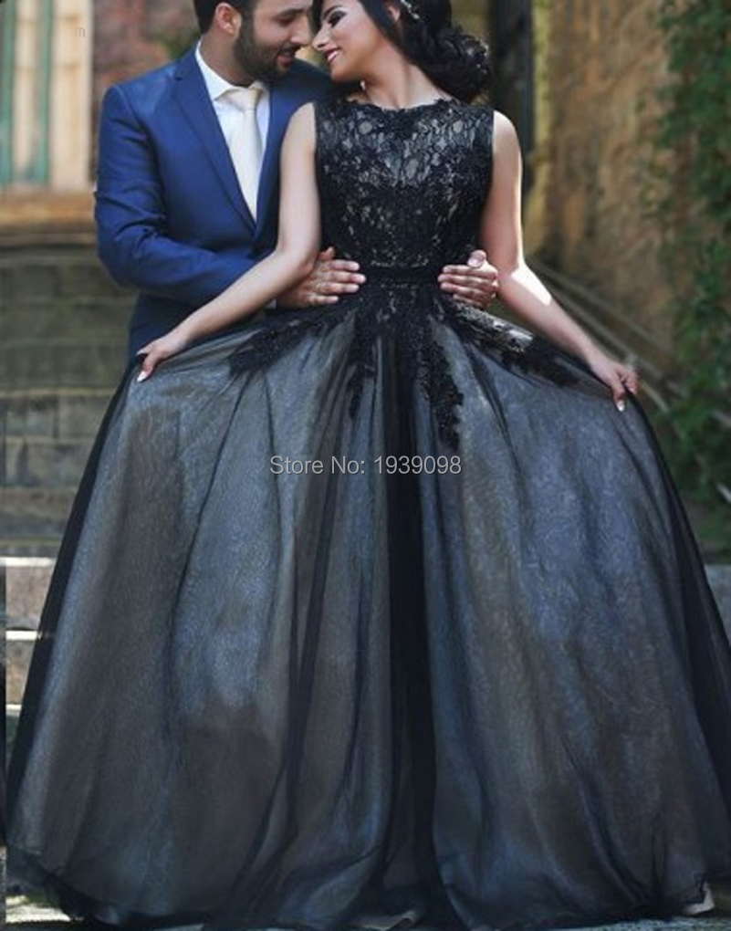Designer Gothic Corset Dresses Long Black Evening Skirt Floor Length Ball  Gown Lace Prom Dresses Tulle Arabic Women Party Wear-in Prom Dresses from  Weddings ... 1bf53799be66