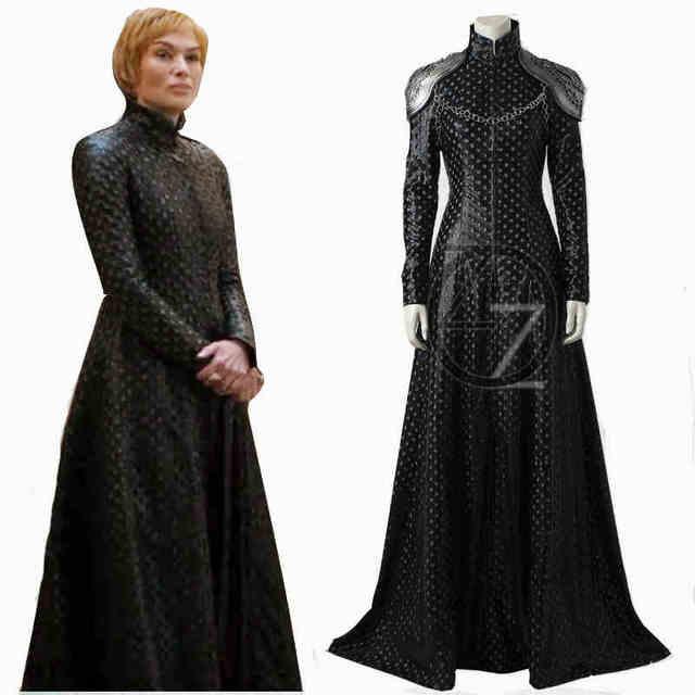Juego De Tronos Temporada 7 Cersei Lannister Cosplay Traje