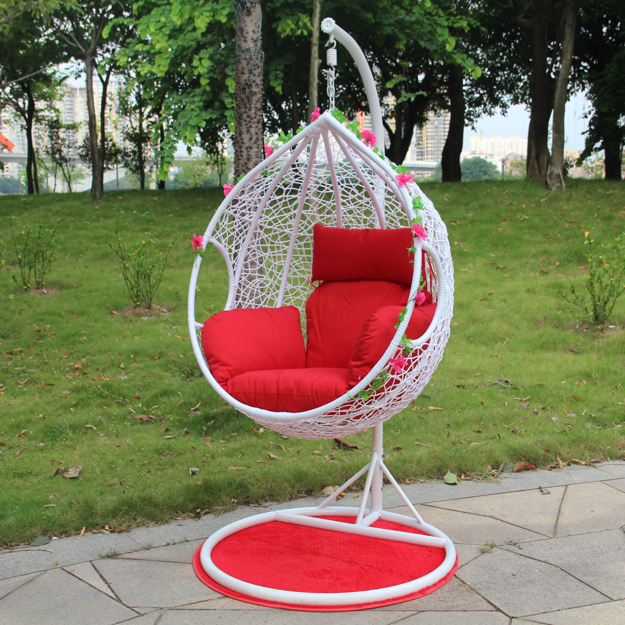 Cheap Single Double rattan basket hanging chairs swing chair