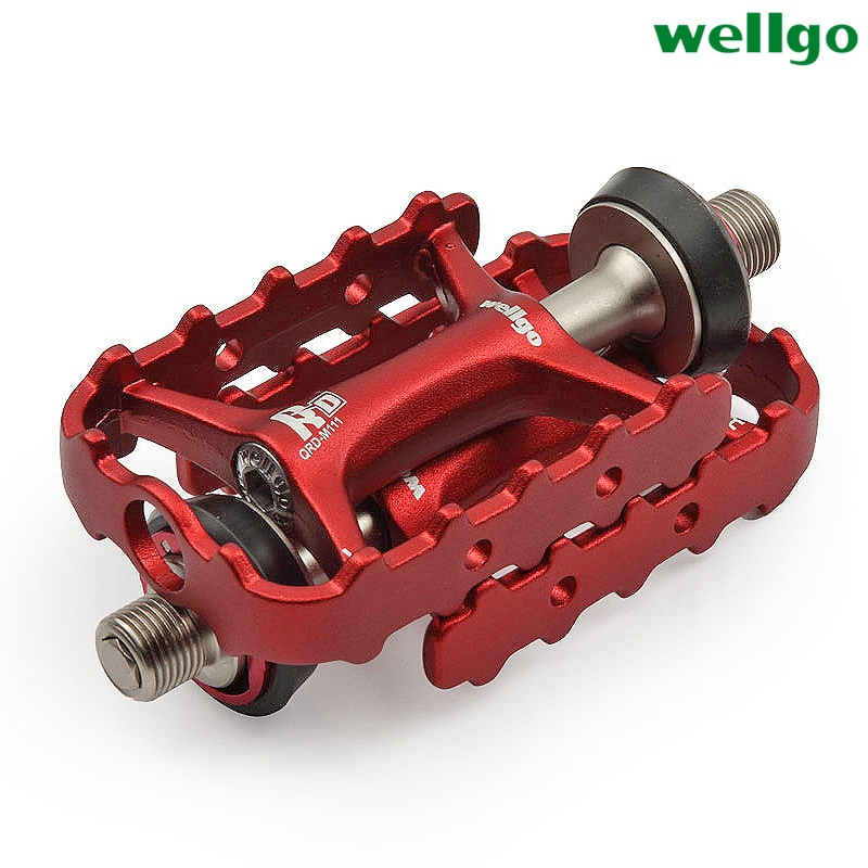 Original Wellgo M111 Quick Release Non-quick Release Bicycle Pedals Road Bike Ultralight Pedal MTB Cycling Bearing Pedal