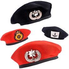 Матросский танцевальный представления шляпы для косплея для детей взрослых мужчин и женщин береты Звезда эмблема моряки шляпа взрослый ребенок Trilby военные шапки