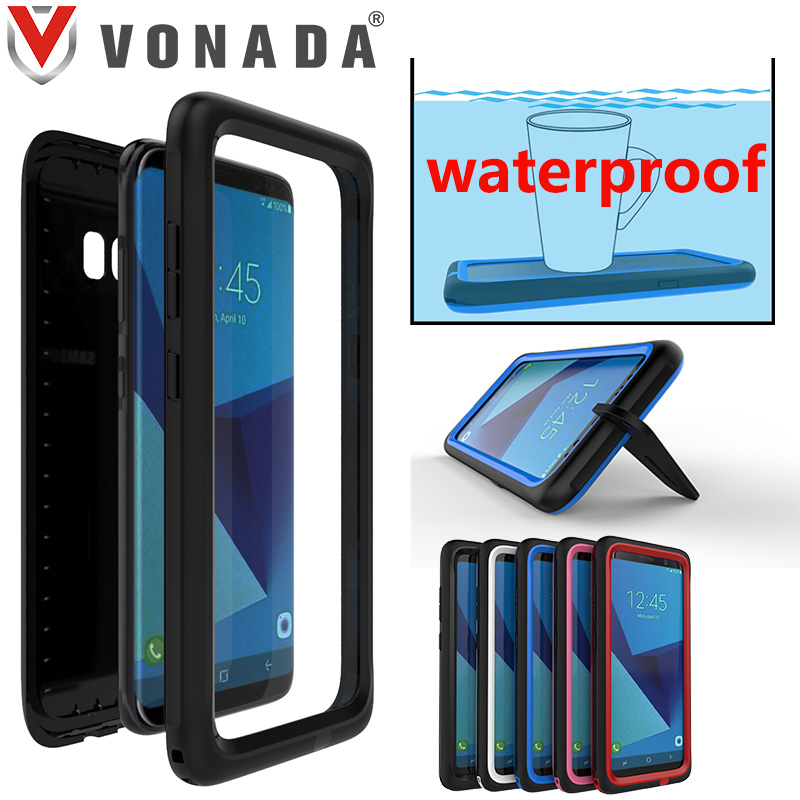 Vonada Case for Samsung Galaxy S8 S8 Plus 360 Full Protector WaterProof Dirt Proof Shockproof Kickstand Back Phone Case Cover