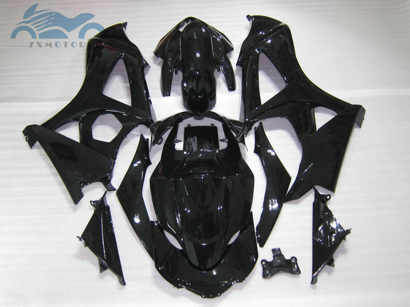 Customized Fairing <font><b>kits</b></font> for <font><b>Suzuki</b></font> GSXR 1000 2007 2008 <font><b>GSXR1000</b></font> K7 <font><b>K8</b></font> ABS plastic motorcycle fairings <font><b>kit</b></font> 07 08 glossy black image