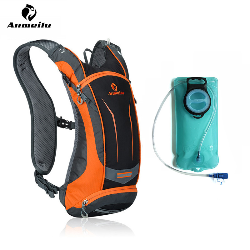 Anmeilu 8L Outdoor Bicycle Hydration Pack Waterproof Nylon MTB Bike Water Bag Sport Climbing Hiking Cycling Backpack Accessories roswheel 22l ultralight cycling mountain bike bag hydration pack water backpack reflective bicycle bike hiking climbing pouch