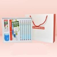 Geschenk Box Set Loch Bleistift + 3 15 Automatische Bleistift Kind Grundschule Korrektur Grip Cartoon Geschenk Box für Kind