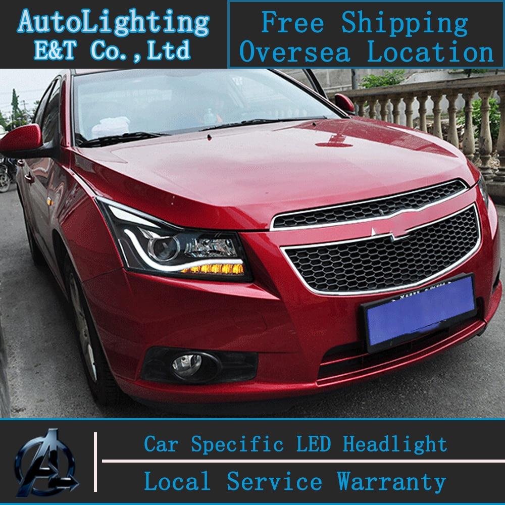 Car styling head lamp for chevrolet cruze headlights 2009 2014 led headlight front lamp led