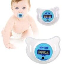 Мягкая одежда для детей и малышей, соска с ЖК-дисплеем, цифровая соска для рта, термометр, забота о здоровье детей FJ88
