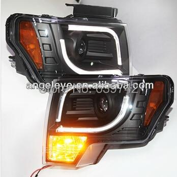 Для Ford для Raptor F150 Светодиодные ленты головного света 2013-2014 год SN