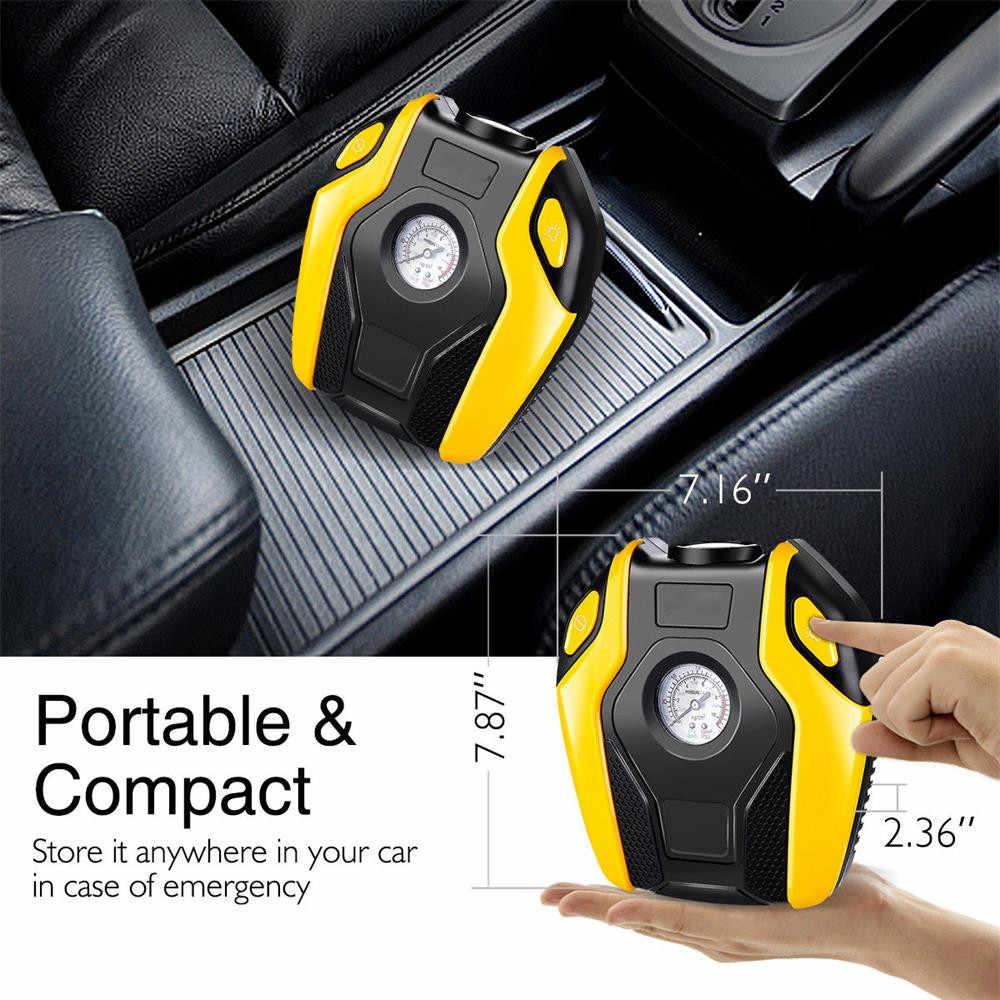 12 V 150PSI Auto Mini Draagbare Luchtcompressor Elektrische Tire Inflator Pomp w/Gauge 150 W Band Luchtpomp dropship m22