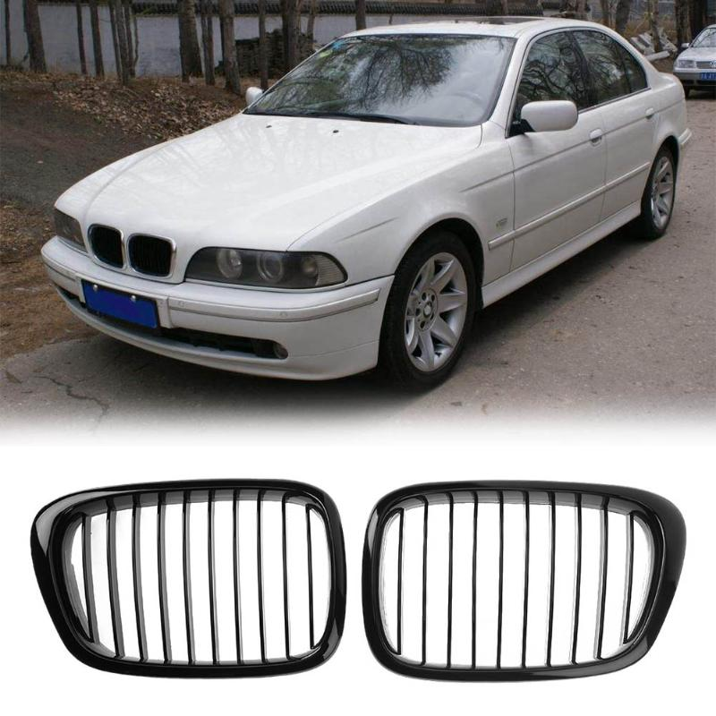 VODOOL 2pcs Front Sport Hood Kidney Grille Grilles for BMW E39 97-03 Gloss Black High Quality Car Styling Accessories 2pcs matte black front kidney grilles for bmw x5 e53 3 0 4 4 4 6 4 8 04 06 car front bumper grille for modification car styling