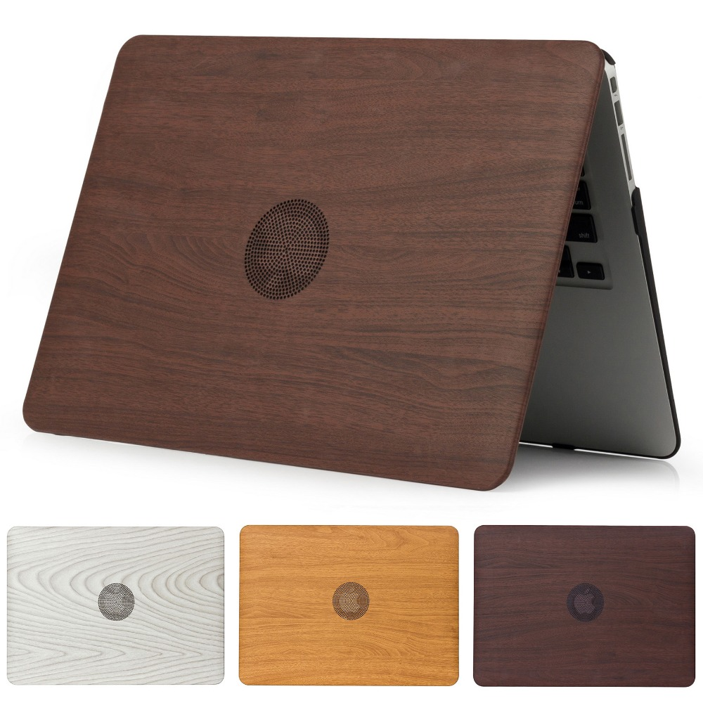 Wood Grain Laptop Case For MacBook Pro Retina Air 11 12 13 15,2018 For Mac Air 13 A1932,New Pro 13 15 A1708 A1707 Cover Shell