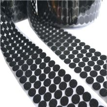 50Pairs glue black Velcro Nylon Sticker strong Adhesive Hook and Loop self adhesive Round home use Curtain Velcro fastener adhesive velcro glue adhesive back strap black 25mm width 100cm length