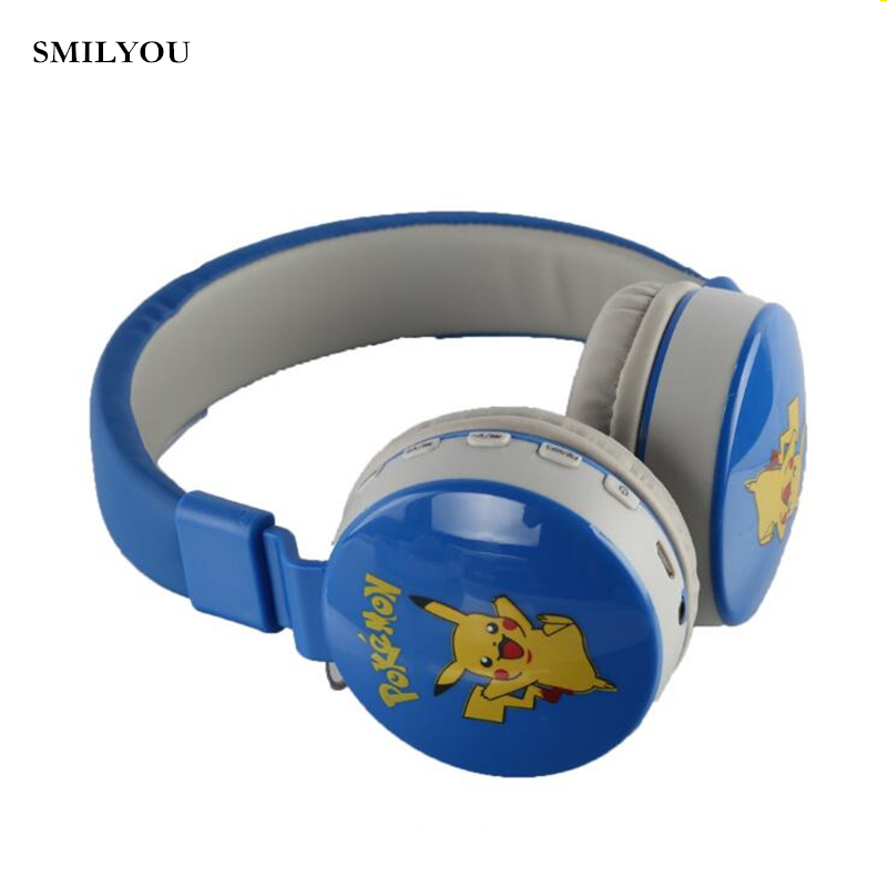 SMILYOU Cartoon Children Wireless Headphones Bluetooth Headset Earphone Headphone Earbuds Earphones With Mic For Tablet PC Phone
