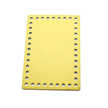 16x11cm Bottom for Knitting Bag PU Patent Leather Accessories Yellow with Holes DIY Bottoms For Women