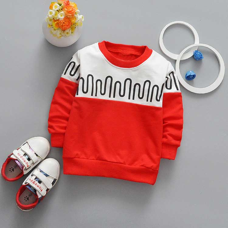 New-spring-Autumn-Casual-boys-Kids-Children-patchwork-Wave-stripe-printing-Long-Sleeve-o-neck-Baby-T-shirt-Y2061-1
