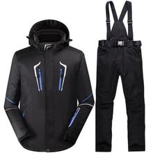 Nieve invierno-35 grados men esquí impermeable 10000mm hombre snowboard  Trajes Super caliente chaqueta de esquí + Pantalones dep. 9a361f69593