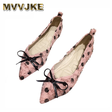 Boat Shoes Flats Women Pointed-Toe Comfortable Butterfly Fashion Casual Elegant MVVJKE